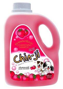 Chinji แชมพูสำหรับสุนัข กลิ่นสตอเบอร์รี่ สูตรผสมครีมนวด ( 1000ml. )
