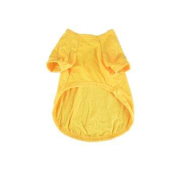 MULBA Clothing for Pet Pet Dog Clothing Cool Dog Shirt Pet Apparel Yellow