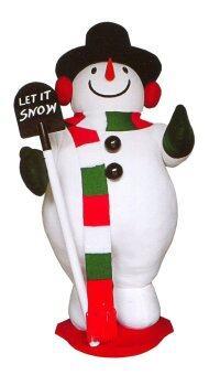 AllMerry Christmas สโนว์แมนผ้ากำมะหยี่ Let