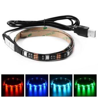 ไฟเส้น Multi-color RGB 50cm 5050 SMD LED กันน้ำ พร้อม USB Cable (image 0)