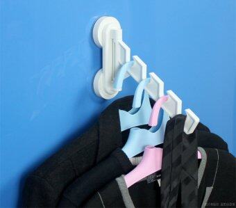DeHUB ราวแขวนเสื้อผ้า ตัวล็อคสูญญากาศ รุ่น Laundry Hanger (สีขาว)