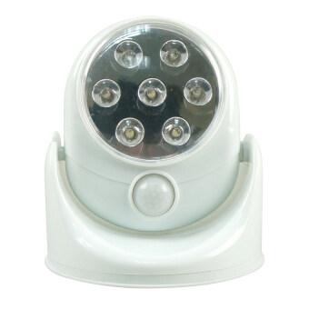 Eagocraft LED Motion Sensor ไฟเซ็นเซอร์ 7 LED ตรวจจับการเคลื่อนไหวปรับระดับ180° (White)