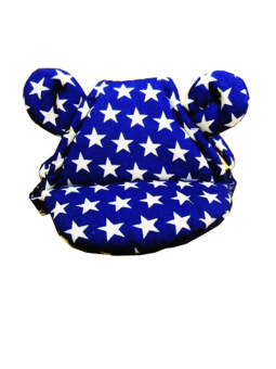 Dogacat หมวกสุนัข หมวกหมา หมวกแมว หมวกมีหู ลายดาว size 1 - สีน้ำเงิน