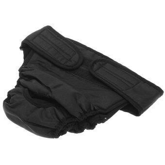 WiseBuy Sanitary Physiological Pants Diaper Panties Underwear for Female Dog L Black