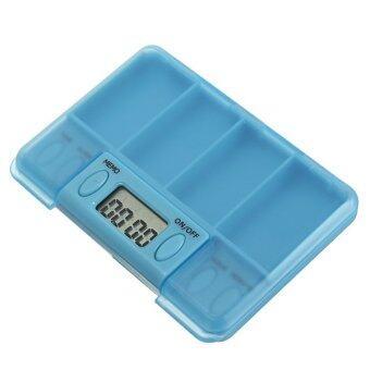 Portable Digital Pill Medicine Tablets Case Box Reminder Container Clock Alarm - Intl
