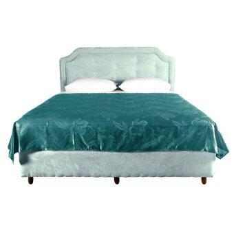 Lotus ผ้าห่มแพรทอลายเตียงคู่ ขนาด 70