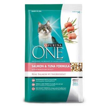 Purina ONE Adult Salmon and Tuna Formula เพียวริน่าวันแมวโต สูตรปลาแซลมอน และปลาทูน่า 450g.