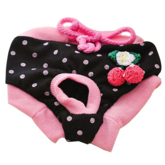 Pet Dog Puppy Diaper Pants Physiological Sanitary Short Panty Nappy Underwear Black S
