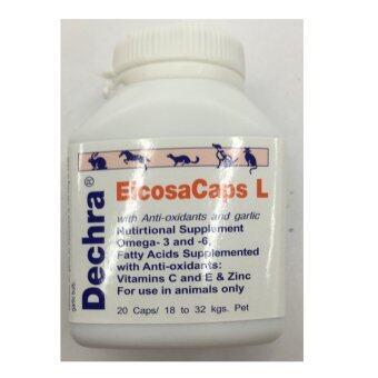 Dermapet EicosaCaps OFA อาหารเสริมบำรุง ผิวหนัง สำหรับสุนัข น้ำหนัก 18kg to 32kg จำนวน 20 caps