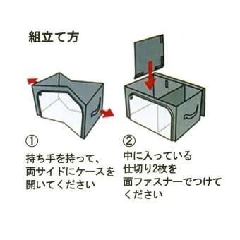 Selected กระเป๋าเก็บเสื้อผ้า ผ้าห่ม ผ้านวม กล่องเก็บเสื้อผ้าอเนกประสงค์ กล่องจัดเก็บเสื้อผ้า 3 ช่อง พร้อมฝาซิปด้านบน และด้านหน้า - สีเทา