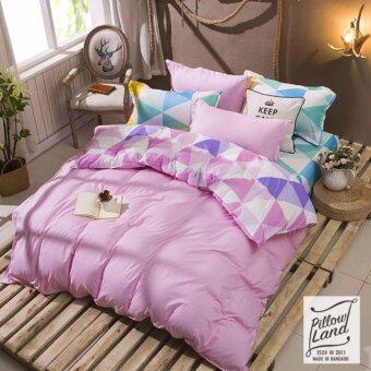 Pillow Land ผ้าปูที่นอน ชุดผ้านวม เกรด A 6 ฟุต 6 ชิ้น NY 301