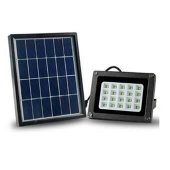 QQQ-N510F ไฟสปอร์ตไลท์ โซล่าเซลล์ 3W LED 3W แสงสีขาว
