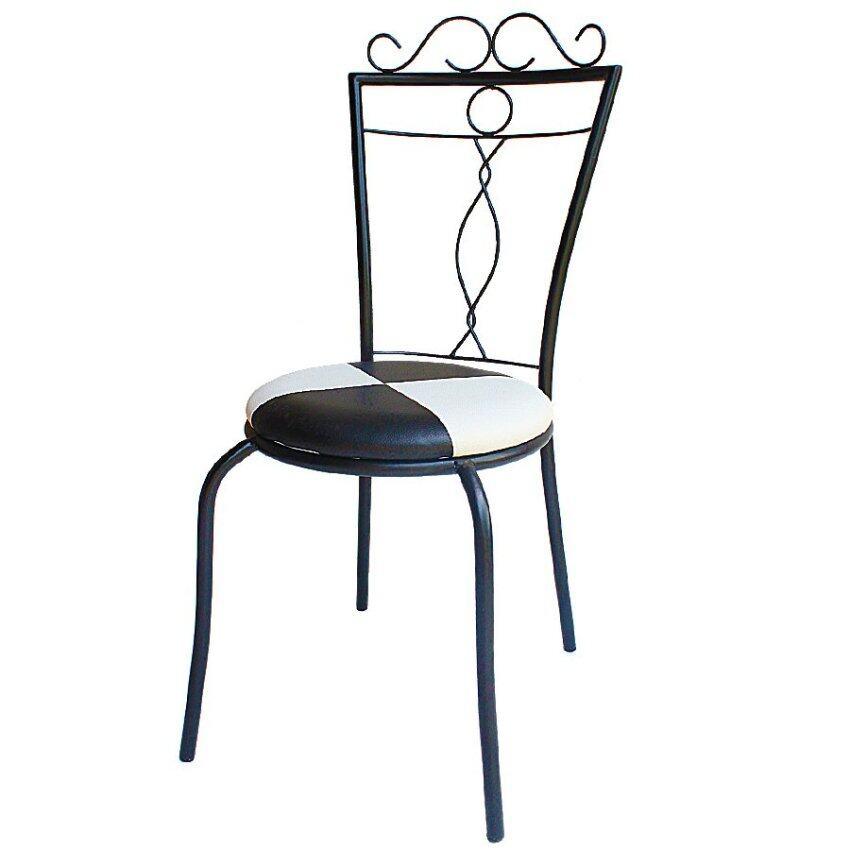 สินค้าแนะนำInter Steel เก้าอี้เหล็ก รุ่น วิคกี้ - โครงดำ ( เบาะขาว/ดำ ) ไม่แพง