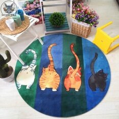 Jhs Blanket Way Cat Round Cat Mats Cartoon Kindergarten Game Carpetcomputer Chair Mats Childrens Tent Mat - Intl ราคา 535 บาท(-28%)