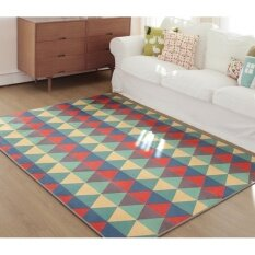 Jhs Geometric Triangle Carpet Fiber Living Room Decor Rug,70x140cm - Intl ราคา 1,515 บาท(-32%)