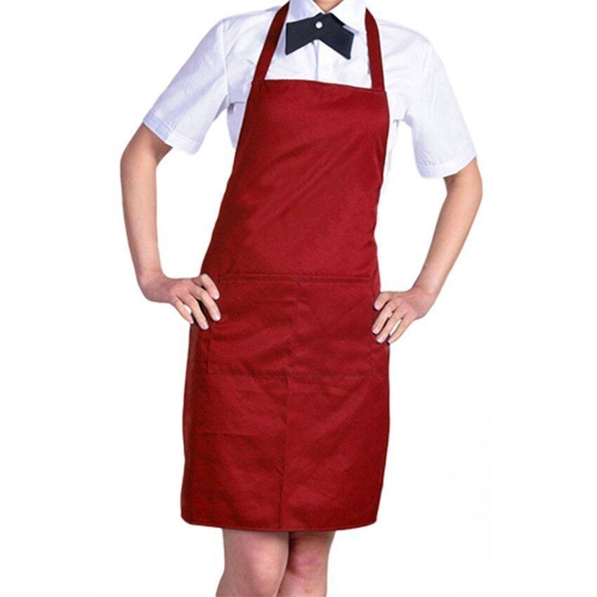 Kitchen Cooking Chefs Apron (Red)