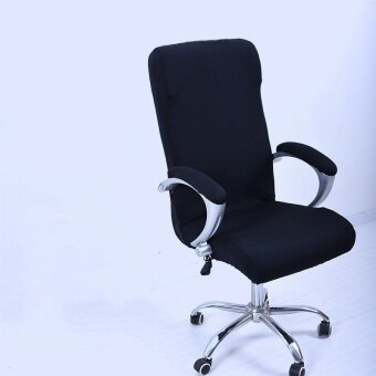 L Spandex Office Chair Cover Slipcover Armrest Cover Computer Seat Cover Stool Swivel Chair Elastic(Chair is NOT included) - intl
