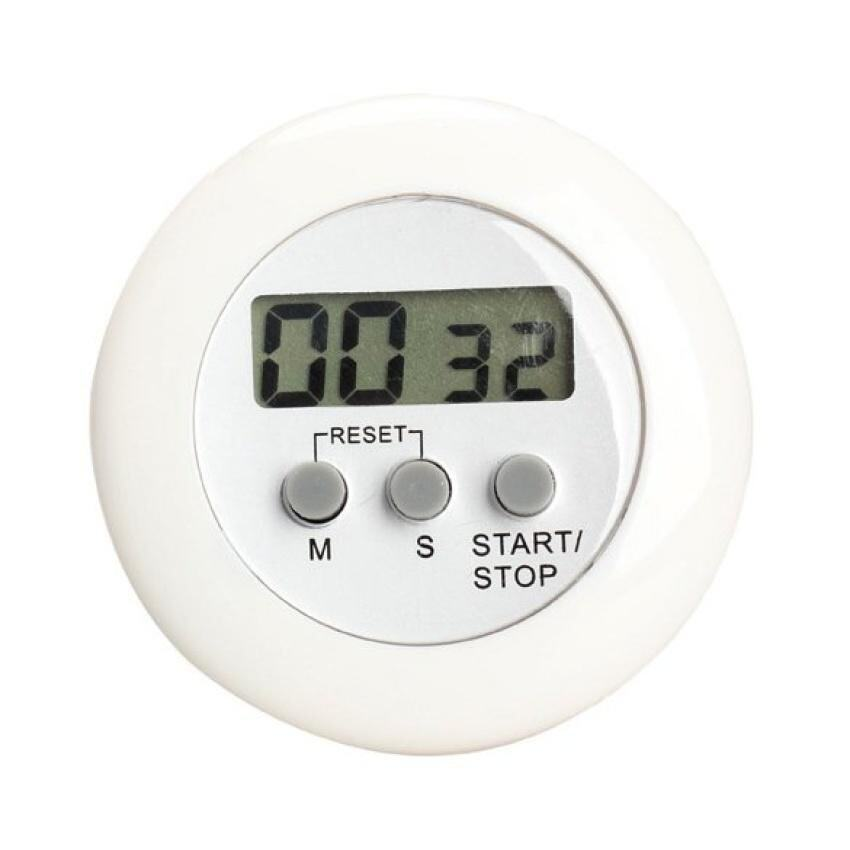 Lcd Digital Kitchen Timer White - intl ...