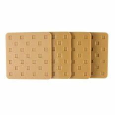 Lemarle Furniture Pads Square Silicone Non-Slip Heavy Duty Hard Floor Protector Set Of 4, Natural, 2.7x2.7x0.2