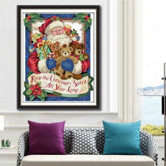 Lemon 5D Diy Diamond Painting Santa Bears Toy Embroidery Cross Stitchhome Decor Craft - intl