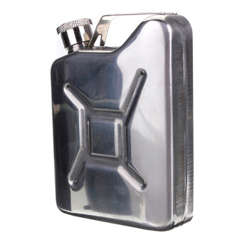 Lucky Hip Flask Jerry Can Liquor Whisky Pocket Bottle (Stainless Steel) - intl