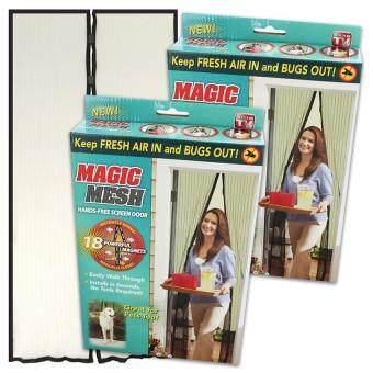 Magic Mesh ม่านกันยุง กันแมลง เปิด-ปิดอัตโนมัติด้วยแม่เหล็ก สีครีม 2 ชิ้น