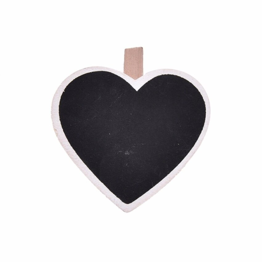 Chalkboard Stands Mini Wooden Wedding Table Place Cards Number Decor Black Heart - intl .