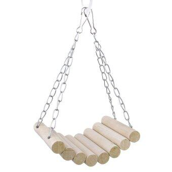 Mouse Parrot Bird Cat Hamster Wooden Hanging Swing Toys