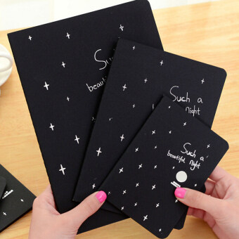 Notebook Diary Black Paper Notepad Sketch Graffiti Notebook for Drawing Painting 32K - intl