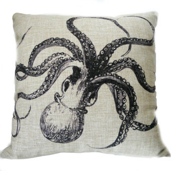 Octopus Throw Pillow Cove (Brown/Black)