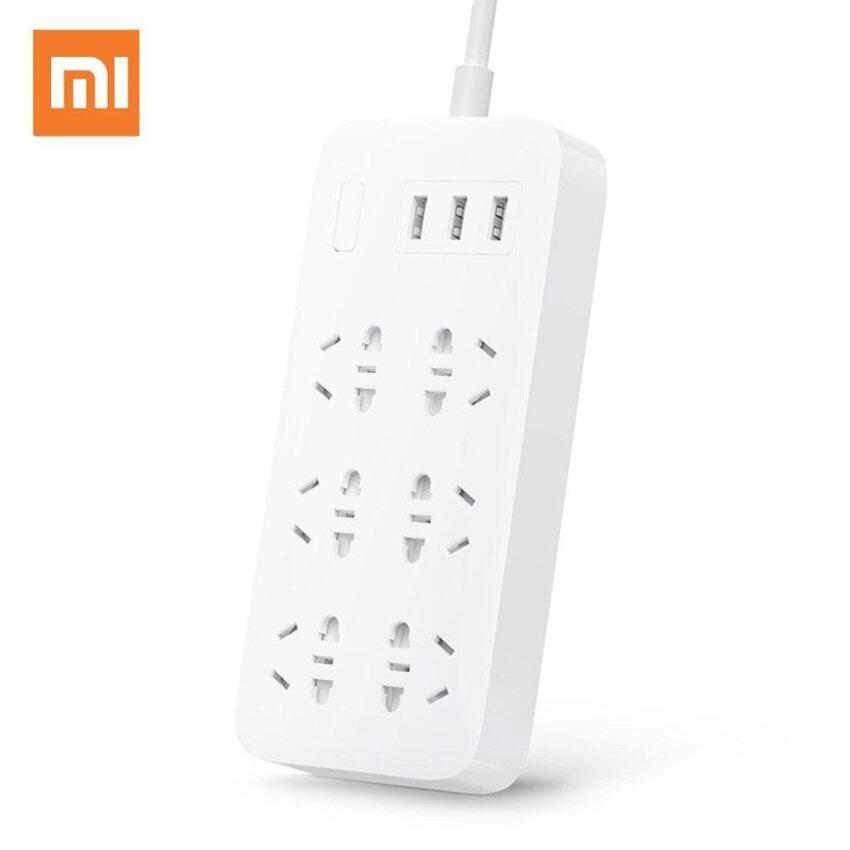 Original Xiaomi Mi Power Socket Strip With 3 USB 2A Fast Charging Extension Plug 6 Standard Socket Adapter 1.8m Mijia - intl