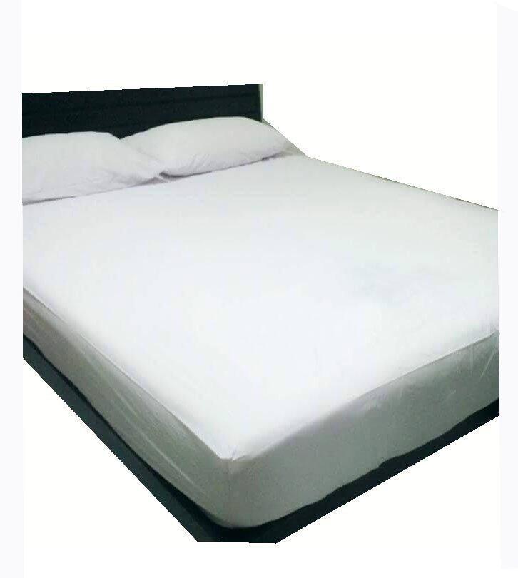 PampP Sheet คลุมที่นอนกันน้ำกันไรฝุ่น 5ฟุต ( สีขาว )(5ฟุต)