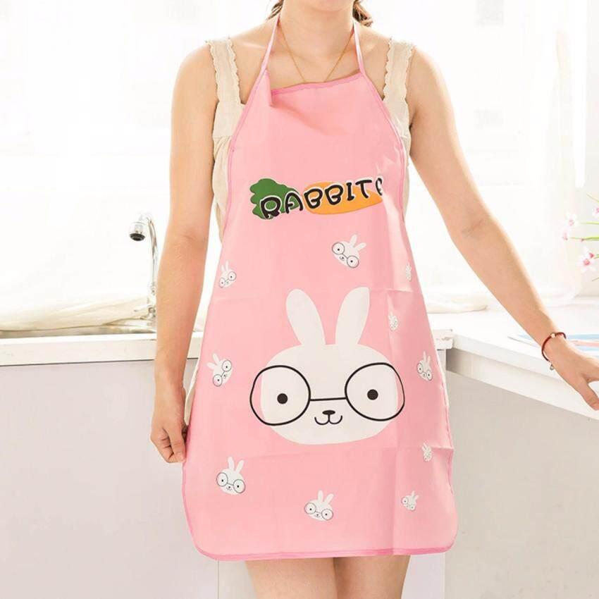 ขาย ผ้ากันเปื้อนแบบกันน้ำ ลายการ์ตูนสัตว์เลี้ยงน่ารักสดใส กระต่ายสีชมพู