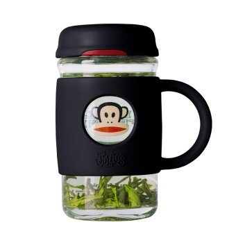 ปากลิงที่มีฝาปิดสำนักงานธุรกิจชาถ้วยแก้วถ้วย
