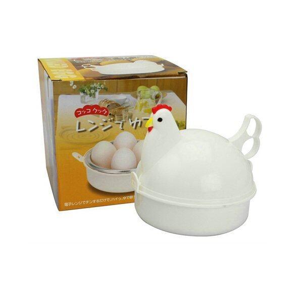 เครื่องต้มไข่รูปแม่ไก่ไมโครเวฟ ทํา ไข่ออนเซ็น ไมโครเวฟ (สีขาว) ...