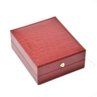 กล่องใส่เครื่องประดับ ใส่สร้อยคอ ใส่จี้ ใส่เครื่องราง หนังสีแดง