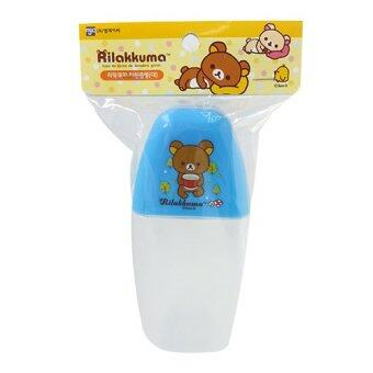 Rilakkuma Plastic Cover for Cup Water Bottle 350ml Blue