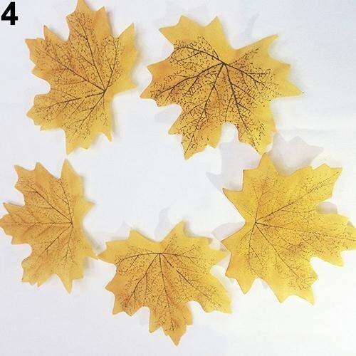 Sanwood 100 Pcs Fall Leaves Wedding Favor Autumn Maple Leaf Decorations Party 4 - intl ...