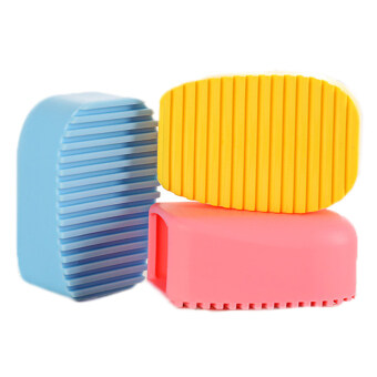 Silica gel household cleaning mini washing brush (Blue)