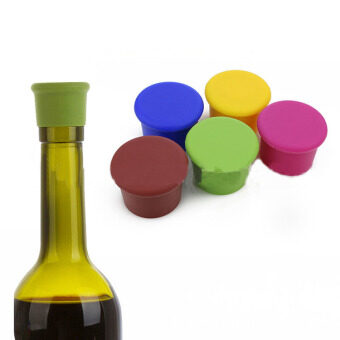 Silica gel wine bottle cap stopper (Yellow) - intl