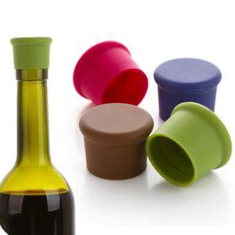 Silica gel wine bottle cap stopperr (Coffee) - intl