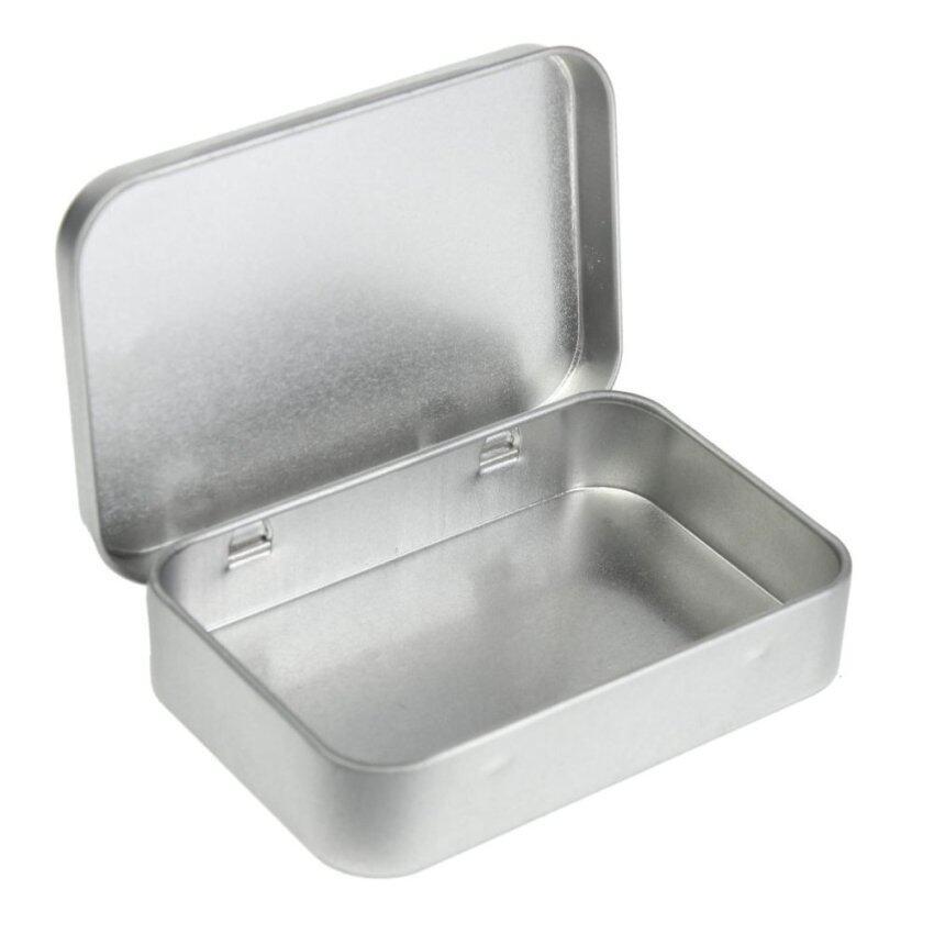 Small Metal Tin Silver Flip Storage Box Case Organizer For Money Coin Candy Keys (Intl)