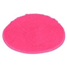 Soft Bath Bedroom Floor Shower Round Mat Rug Non-Slip Hot Pink - Intl ราคา 168 บาท(-67%)