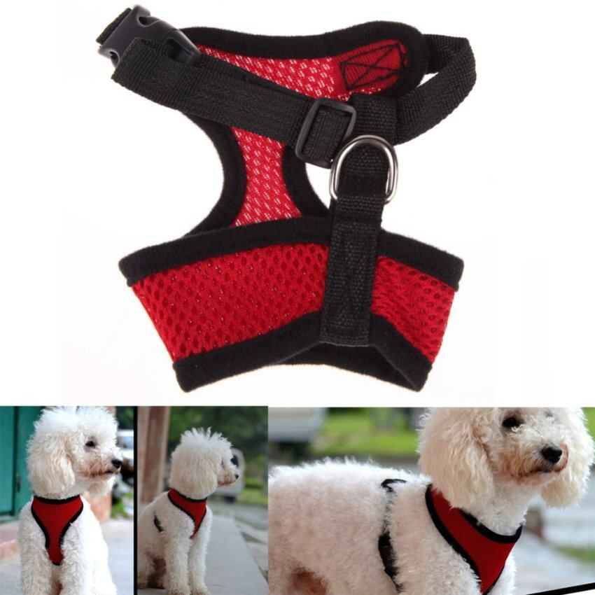 Soft Mesh Dog Harness Pet Puppy Cat Clothing Vest Red XL ...