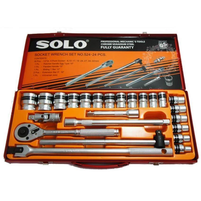 SOLO ประแจบล็อกชุดโซโล 24 ตัวชุด Socket Wrench Set No. SOLO-524-24