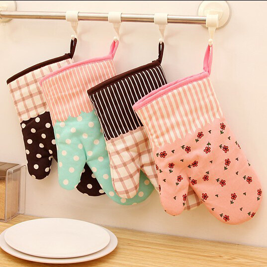 Special high-temperature microwave oven mitts Glove (PINK ) - intl
