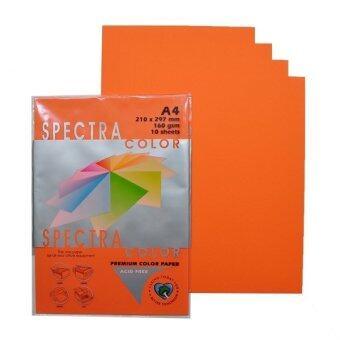 กระดาษ สี สเปคตรา Spectra Color Paper A4 160g. (50 แผ่น) 6 ชุด - Saffon