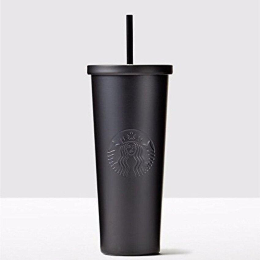 Starbucks Stainless Steel Matte Black Cold Cup , 24 fl oz - intl .