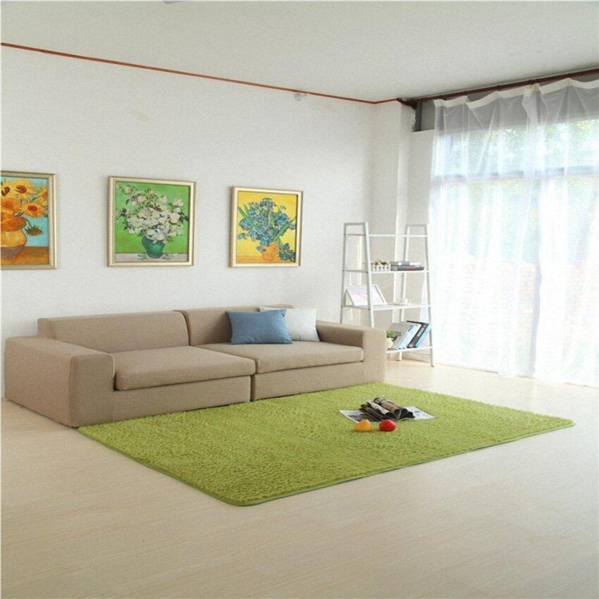 Super Soft Modern Living Room Bedroom Anti-skid Shag Area Rug Carpet 4-Feet