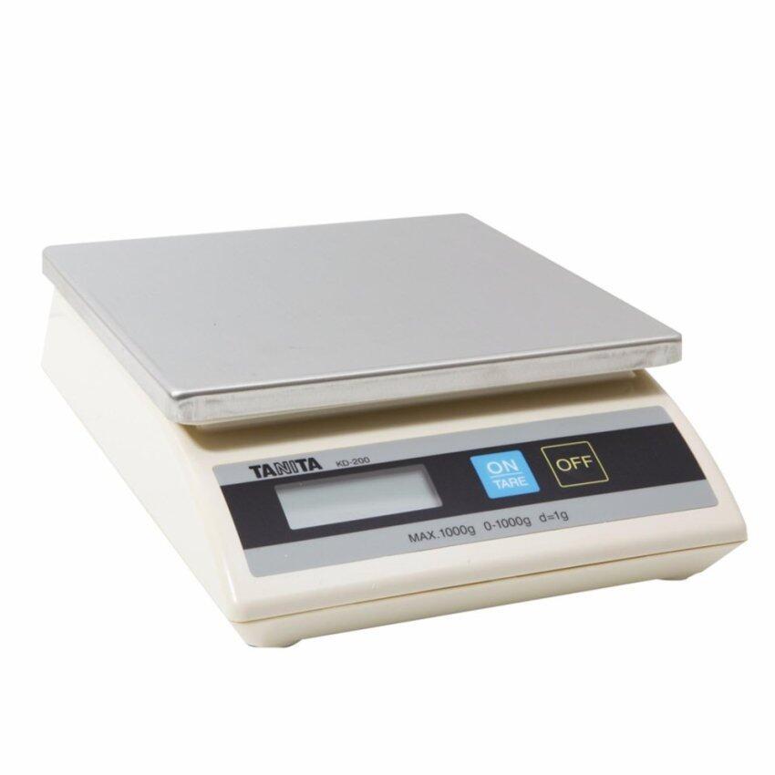 TANITA,เครื่องชั่งน้ำหนักดิจิตอลในครัว/เครื่องชั่งเพื่อการซื้อขาย,รุ่น KD-200 รับน้ำหนักสูงสุดได้ 1 kg.,สีขาว